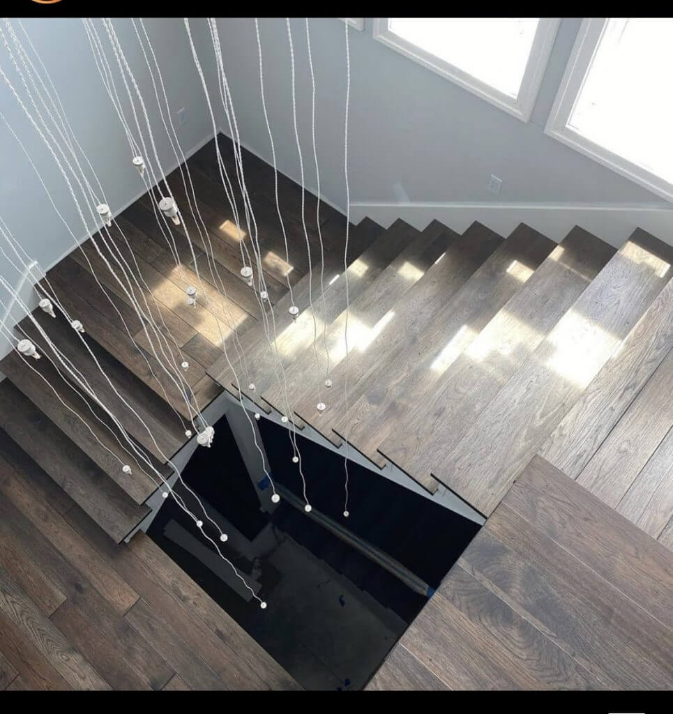 Hickory Staircase with Rubio