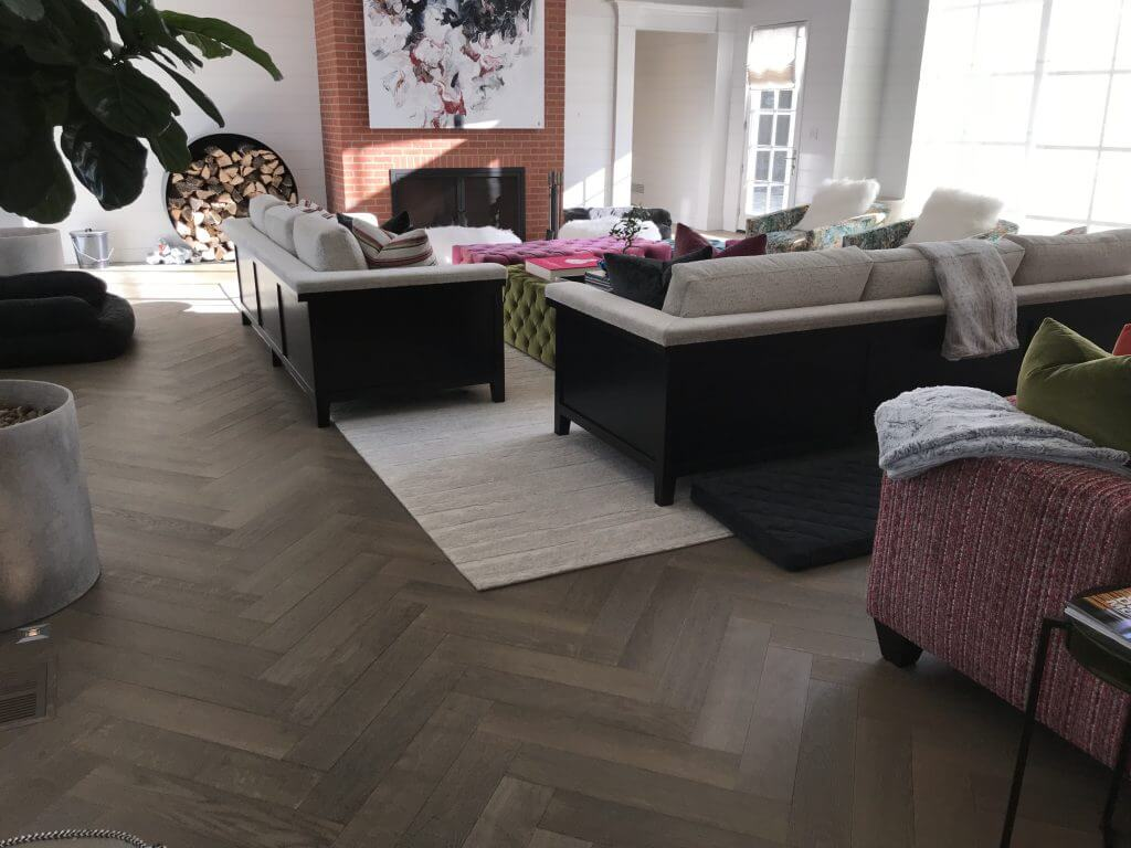 Pre-Finished Wood Floor Living Room