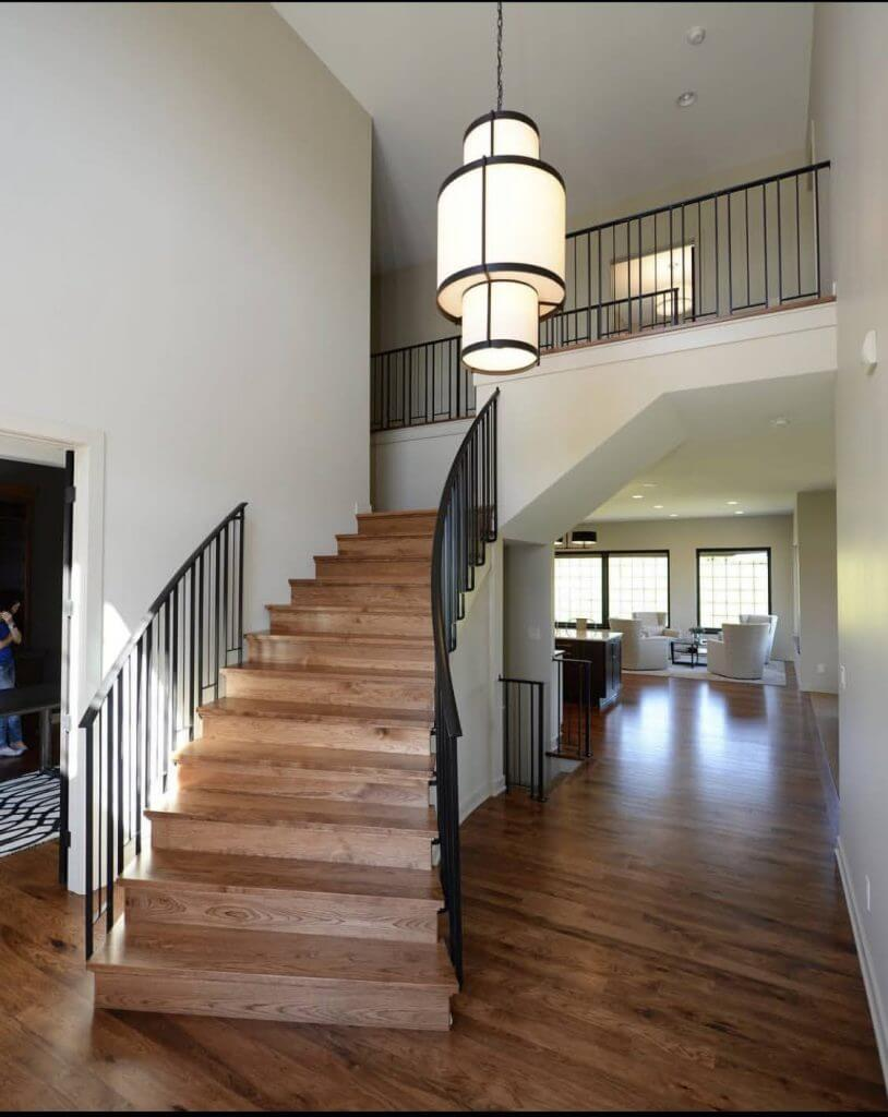 Hickory Floor Stairs