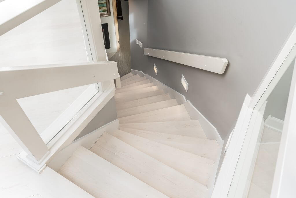 Kerin Stairs – Maple Bleached Stain 2