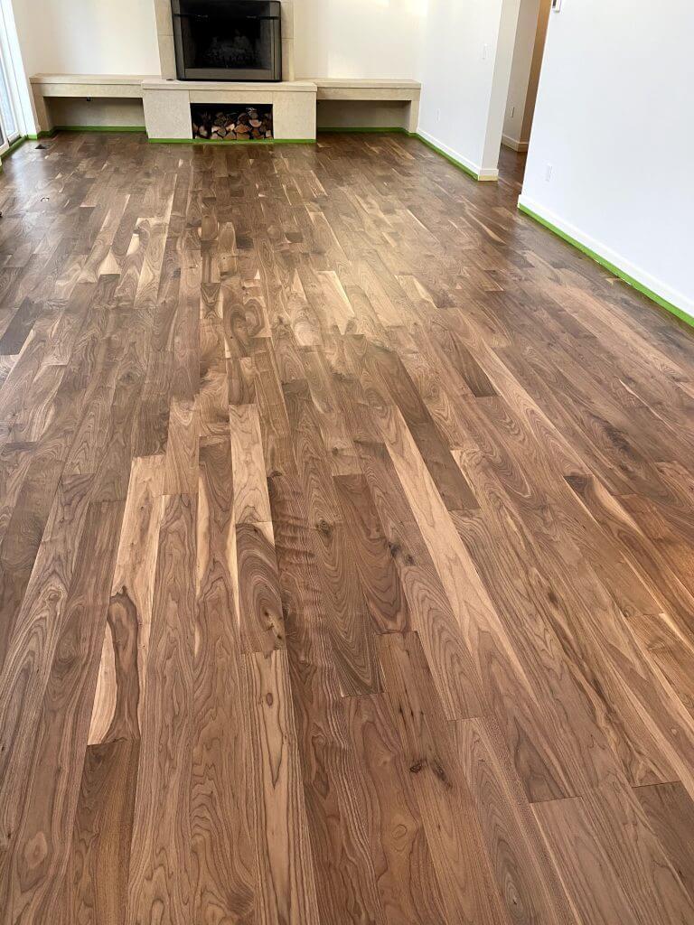 Walnut Floor After Refinishing