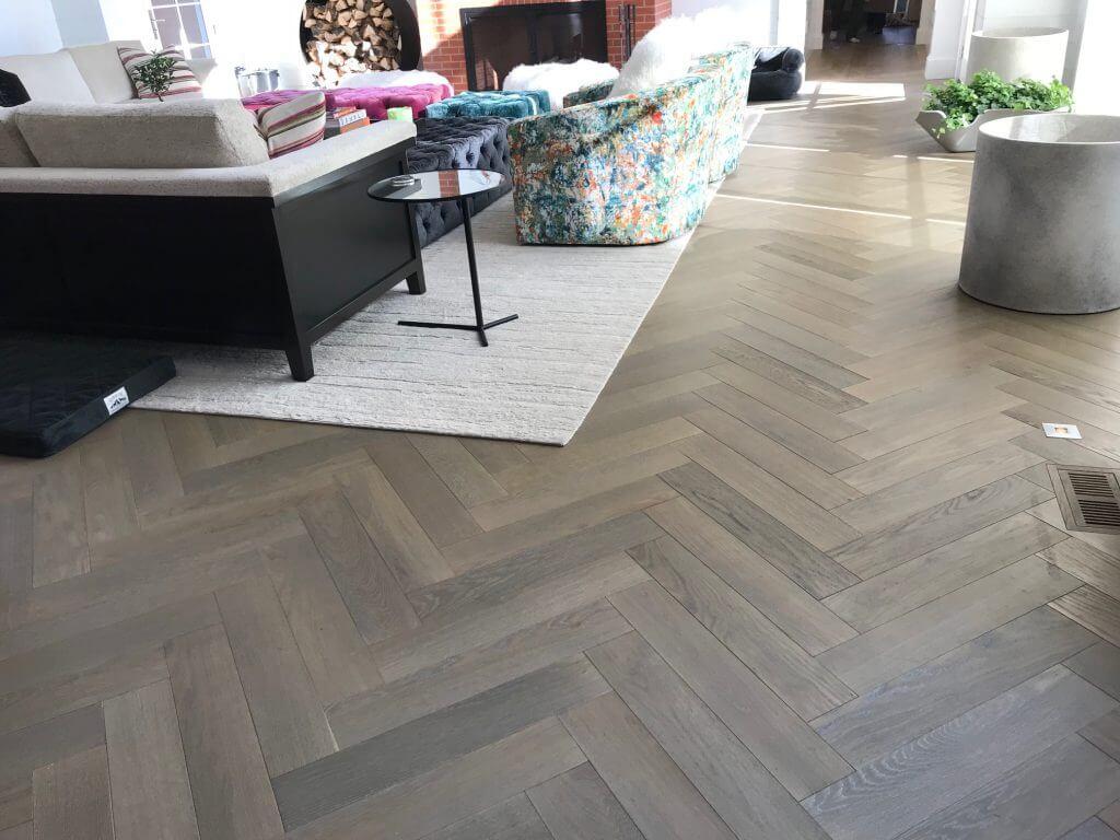 French Oak Pre-Finished Engineered Floor Herringbone Pattern